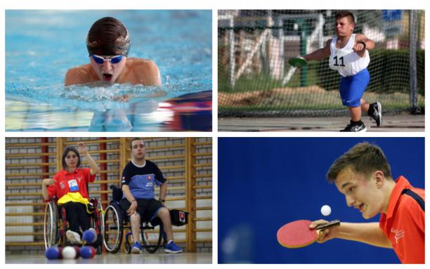 young Para athletes compete at their sports
