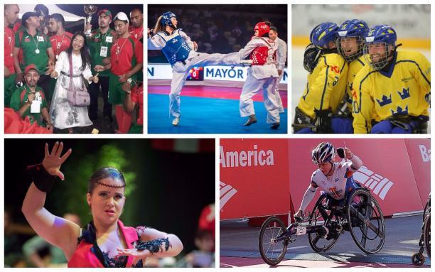 Para athletes compete in blind football, taekwondo, ice hockey, dance and athletics