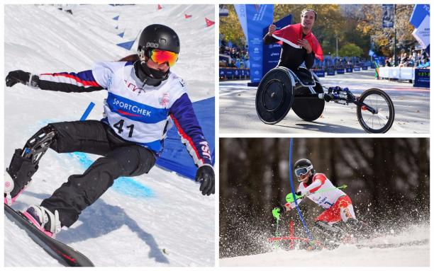 Para athletes compete in athletics, snowboard and alpine skiing