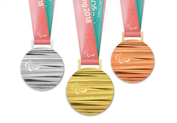 gold, silver and bronze medals for the PyeongChang 2018 Paralympic Winter Games