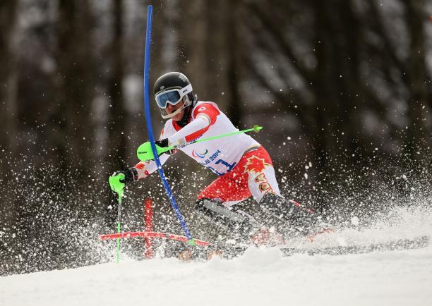 a male Para skier