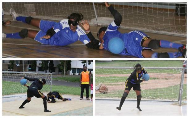 goalball players in action