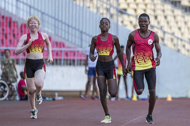 Athletes take part in Para athletics activity in Luanda, Angola