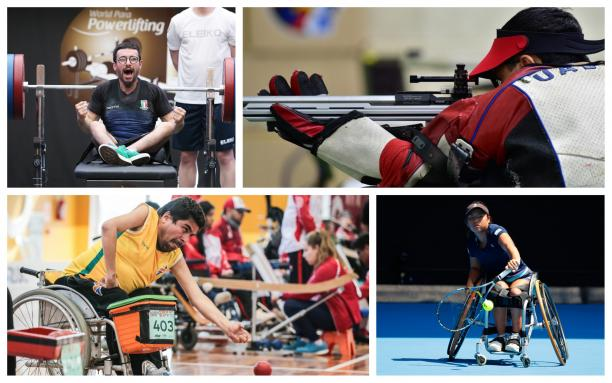 five Para athletes competing at their sports