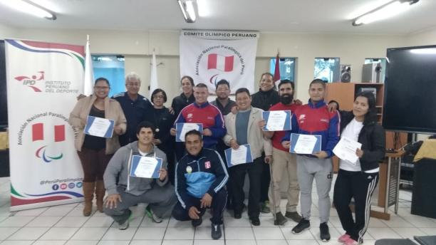Technical officials certified in Peruvian capital city