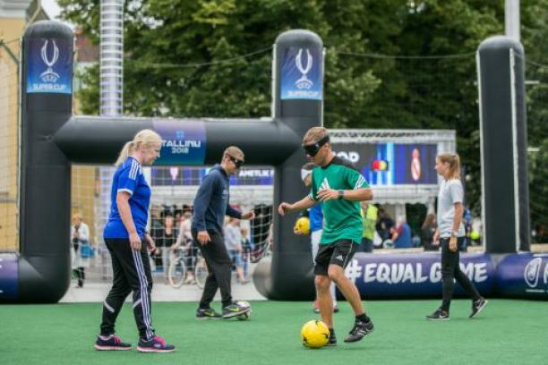 Blind football introduced in Baltic region