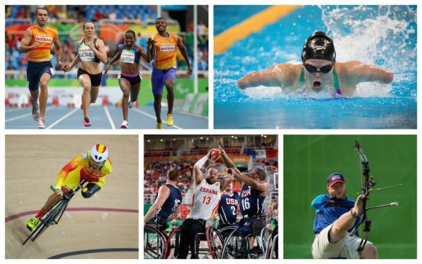Para athletes competing at their sports