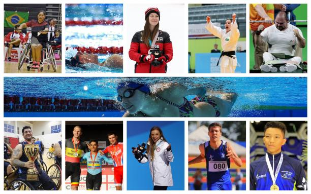 twelve Para athletes from the Americas competing in their sports