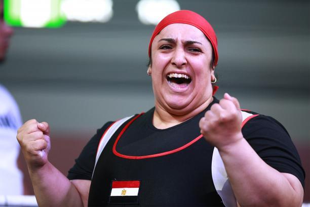 female powerlifter Randa Mahmoud