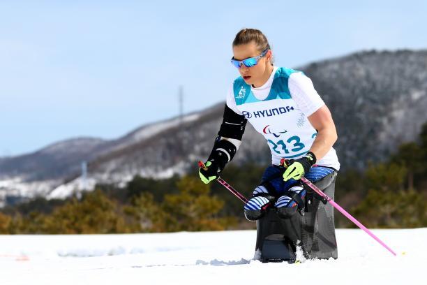 female Para Nordic skier Oksana Masters