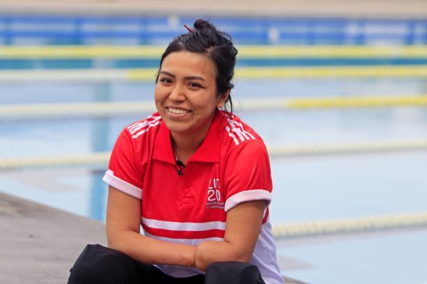 Peruvian swimmer Dunia Felices