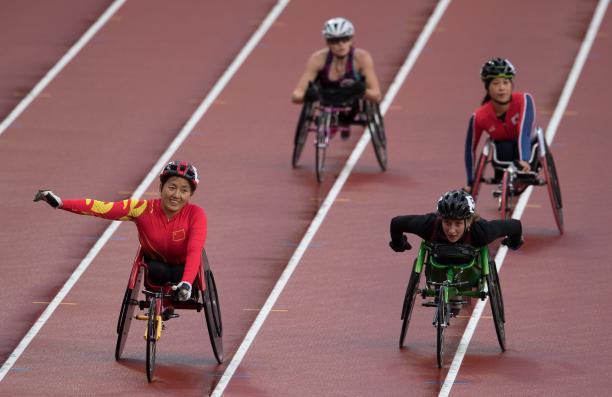 Chinese wheelchair racer Hongzhuan Zhou