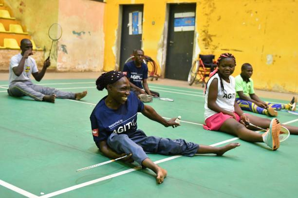 Para badminton athletes participate in a BWF training camp in Ugand funded by the Agitos Foundation Grant Support Programme