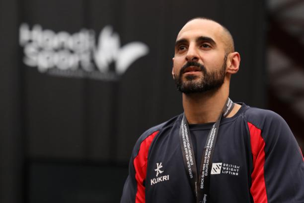 Ali Jawad looking ahead with the gold medal around his neck