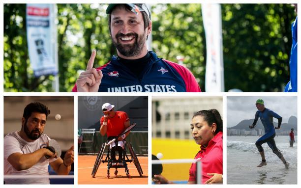 Collage of photos featuring Benjamin Thompson, Gustavo Fernandez, Stefan Daniel, Luis Flores and Martha Verdin