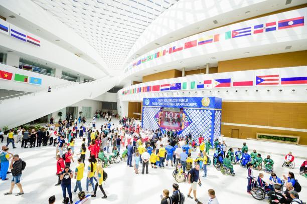 People at the Nur-Sultan 2019 venue