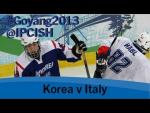 Ice sledge hockey - Korea v Italy - 2013 IPC Ice Sledge Hockey World Championships A Pool Goyang