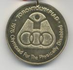 Medal Paralympic Games Toronto 1976.