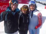 Sylvana Mestre with IPC Development Camp graduates Marie Bochet and Jasper Balcaen