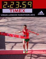 Morocco's El Amin Chentouf wins the 2013 IPC Athletics Marathon World Cup