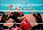 Germany and Russia's men's sitting volleyball teams