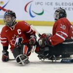 'Canadas ice sledge hockey team captain Greg Westlake' logo