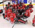 Canada's ice sledge hockey team