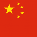 'China flag square' logo