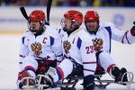 Russia's ice sledge hockey team