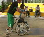 'Wheelchair tennis square' logo