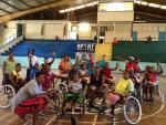 'Wheelchair basketball Solomon Islands' logo
