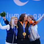 'The Sochi 2014 parasnowboard medallists' logo