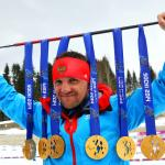Roman Petushkov became the most decorated athlete at Sochi 2014 by winning six gold medals in biathlon and cross-country skiing.