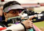 Abdulla Sultan Alaryani of The United Arab Emirates competes during the Men's R1-10m Air Rifle Standing SH1 Final