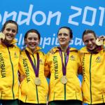 'Australia Womens 100x4 medley relay Top 50 moments icon' logo