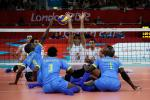Iran and Rwanda sitting volleyball