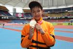 Fitri Ghani wins the first gold at the Athletics venue at the 2013 Asian Youth Para Games