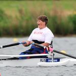 'Natalia Bolshakova cheers after winning gold at the 2013 World Rowing Championships ' logo