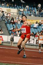 Athlete in the javelin, Seoul 1988