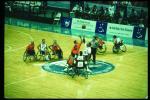 Start of a game Wheelchair Basketball in Atlanta 1996.