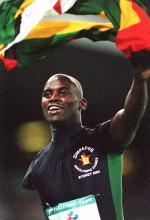 Elliot Mujaji celebrating