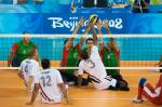 Team Egypt Sitting Volleyball Men competing against Iran