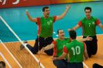 Team Iran Sitting Volleyballl celebrating