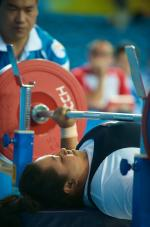 Malaysian Powerlifter in action