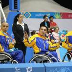 Three Colombian players during the Guadalajara 2011 Parapan American Games
