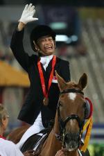 Laurentia Tan celebrating