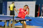 A Spanish person playing table tennis