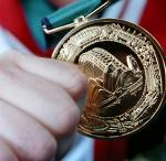 A picture of a gold medal