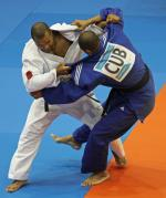 Two judokas in competition