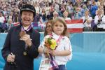 Pepo Puch pictured with his wife and daughter after medalling at the London 2012 Paralympic Games.